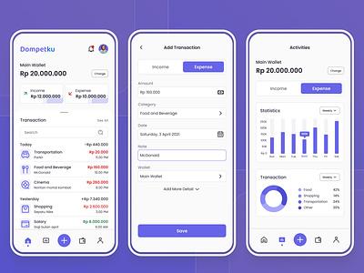 Dompetku - Wallet App mobile app money app ux ui app