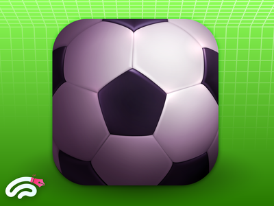 Realistic Football Game Icon