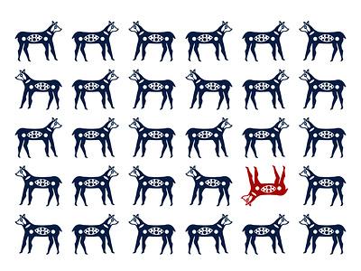 The Hunt pattern design pattern flat character graphic design illustration design art illustrator