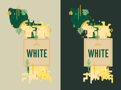 Aro White wine label wine labeldesign label flat vector graphic design illustration design art illustrator