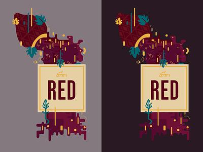 Aro Red wine label red wine label design label flat vector graphic design illustration design art illustrator