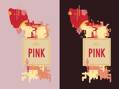Aro Pink rose pink wine wine label wine label design label flat vector graphic design illustration design art illustrator