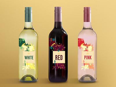 Aro Wine labels label design wine label label flat vector graphic design illustration design art illustrator