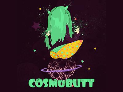 CosmoButt stars magical magical girl panties butt flat character vector graphic design illustration design art illustrator