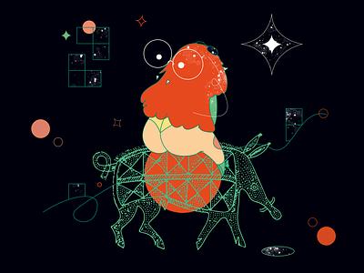 DreamButt magical magical girl stars pig boar dream panties butt flat character vector graphic design illustration design art illustrator
