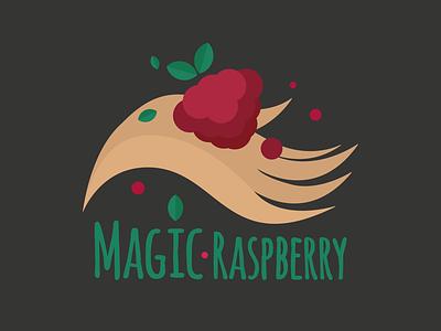 Magic Rasperry Logo raspberry branding logo vector graphic design illustration design art illustrator
