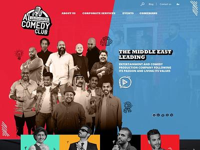 Alcomedy Club ui illustration comic event show comedy club