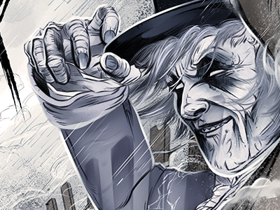 The Gray Man of Pawleys Island SC illustration ghost haunted sc south carolina pawleys island gray man grey man