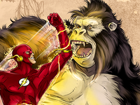 The Flash vs. Gorilla Grodd