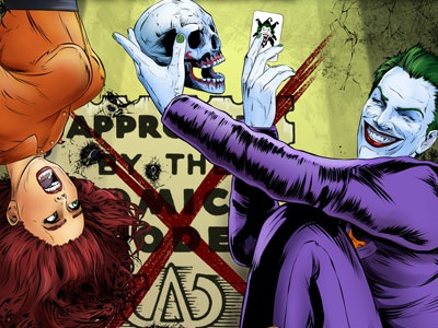 Joker Anniversary illustration comic joker batman arkham gotham villain