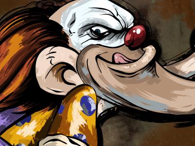 Klown illustration clown cartoon vector art character design