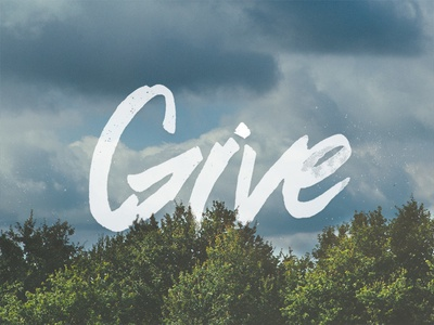 Give give lettering trees photo type