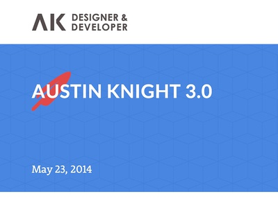 Austin Knight V3 website redesign ui blog
