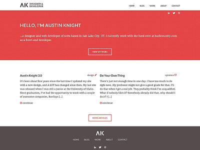 AK Home Page website portfolio web design home page ux redesign