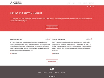 AK Home Page website portfolio web design home page ux redesign