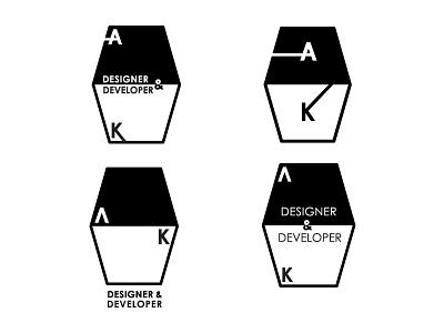 AK Logo Mark logo designer developer austin knight black white