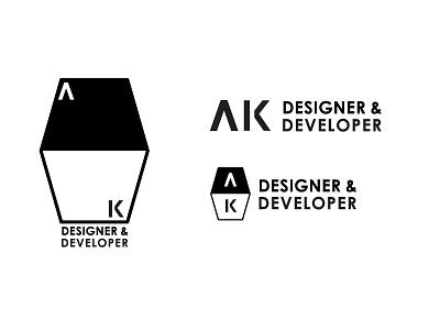 AK Logo Mark V2 logo designer developer austin knight black white