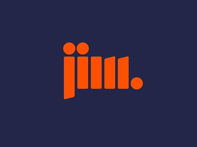 Jim. typography custom type jim identity logo branding