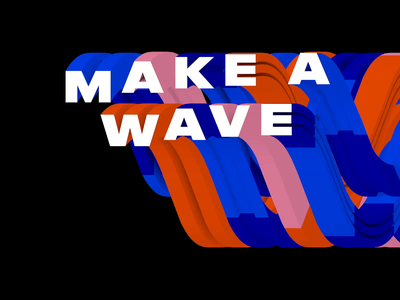 Wavy loop. kinetictype loop wave 3d kinetic animation motion typography gif animated