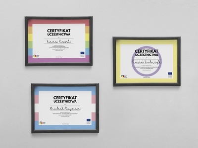 Certificate designs for webinars organised by KPH Poland