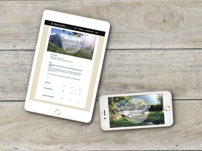 Social Media & Website Graphics for a Retreat in French Alps