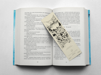 Bookmark designed for a Hotel in French Alps.