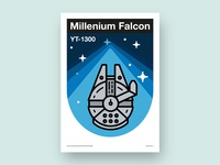 Millenium falcon fan poster