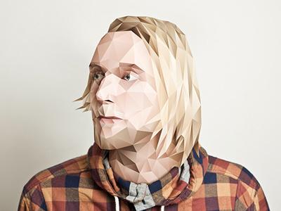 Fredrik, Marathon band polygonal portrait illustration