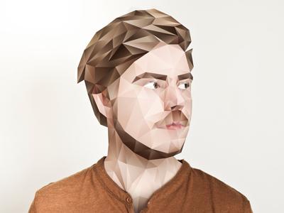 Simen, Marathon band (process) polygonal portrait illustration