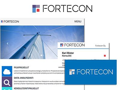 Fortecon visual identity logo corporate style web print graphic design