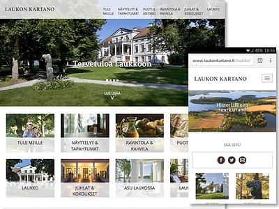 Laukonkartano website wordpress layout website