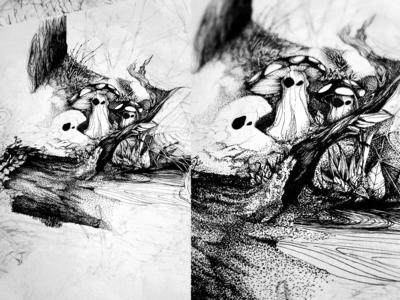Hand drawn - in progress.