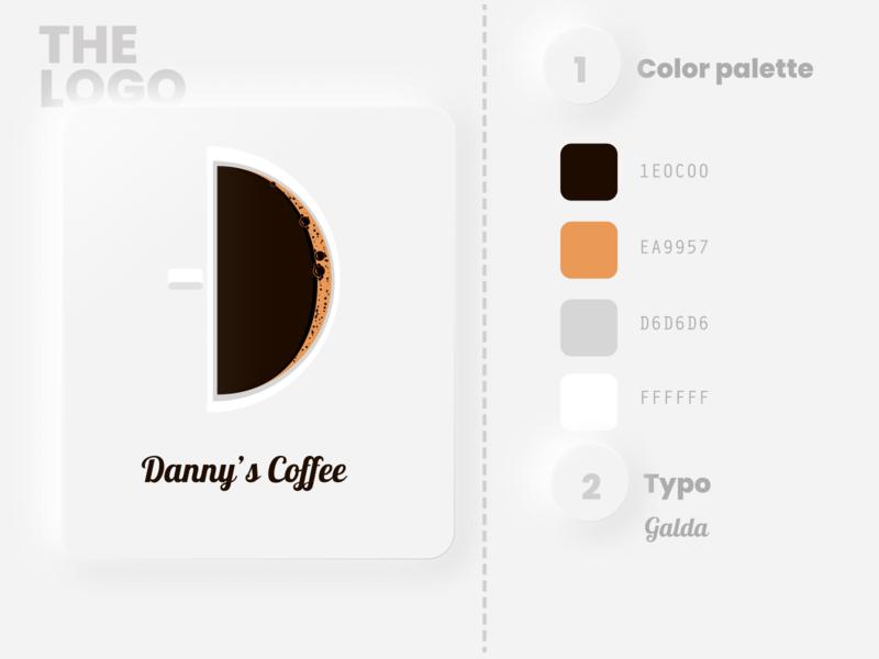 Dannys Cafe ui illustrator art minimal flat design vector logo illustration branding dailylogochallenge