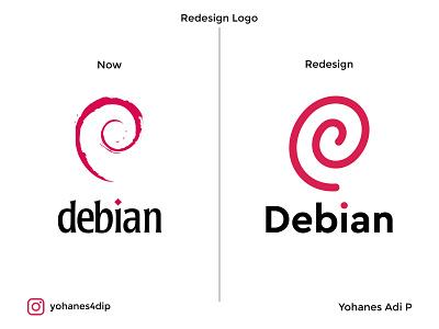 Redesign Debian Logo. branding design brand design app logodesign redesigned brand identity simple logo logo design design branding logo
