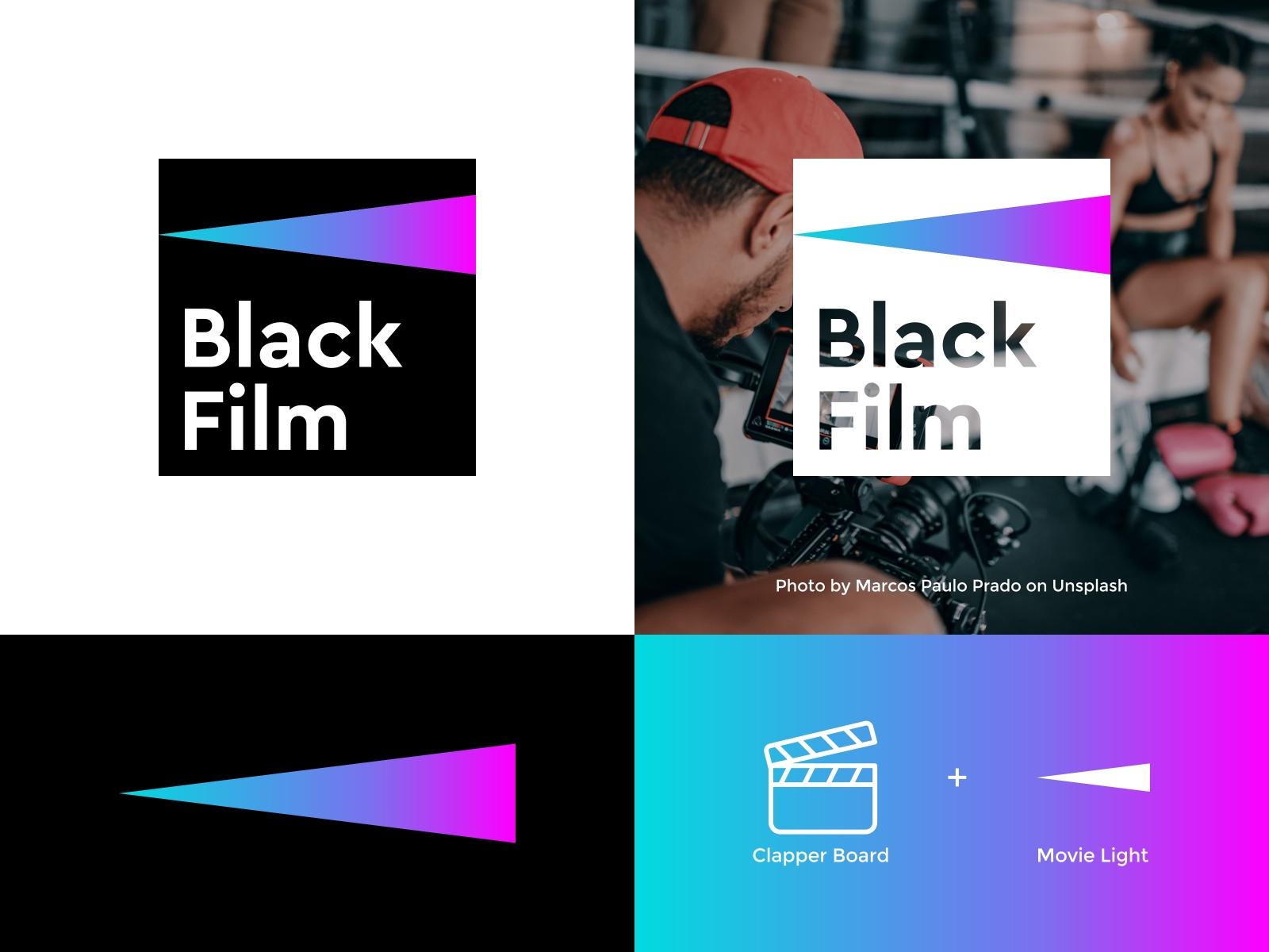 Black Film Logo - Movie Studio