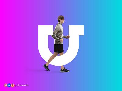 U Lettermark logo bold gradient design gradient color gradient logotype wordmark lettermark illustration logodesign brand identity simple logo logo design flat minimal design branding logo
