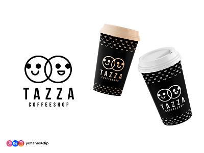 TAZZA Coffee Shop Logo logos line art dailylogochallenge coffee shop coffeeshop coffee brand design logo design logodesign brand identity simple logo minimal branding logo