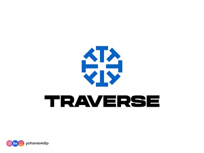 TRAVERSE - Daily Logo Challenge ski dailylogochallenge monogram logo monogram logomark logodesign minimal design simple logo logo design logo