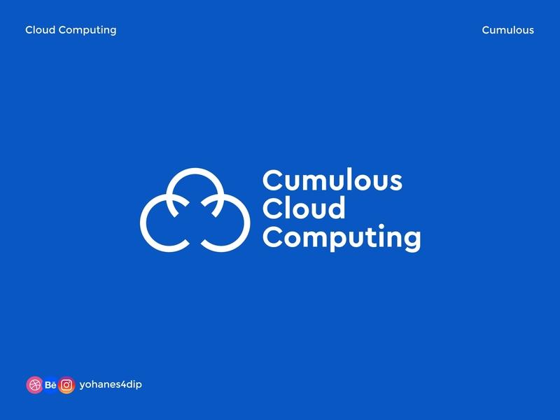 Cumulous Cloud Computing cloud logo combination mark flat minimal line art simple logo logotype abstract daily logo challenge daily logo cloud computing cloud logodesign logo