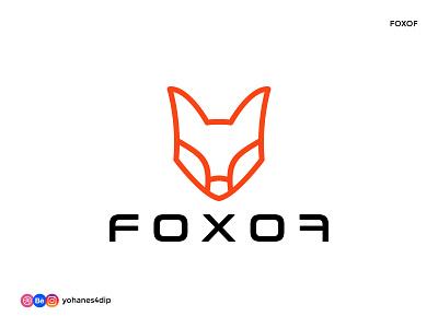 FOXOF - line art Fox logo logo mark logotype orange daily logo daily logo challenge outline line art fox fox logo simple logo flat minimal design logo design logodesign logo