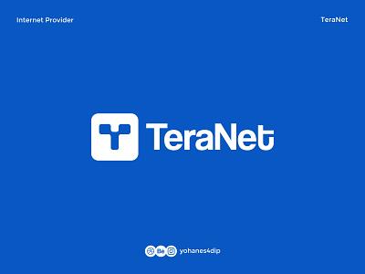 TeraNet Internet Service Provider Logo logomarks internet logo isp connection internet daily logo logomark logotype icon logodesign simple logo flat logo design minimal design branding logo