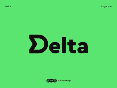 Delta - Logotype lettering modern logo bold daily logo challenge daily logo monogram logo monogram lettermark logo lettermark typography logotype logodesign simple logo logo design flat minimal design logo