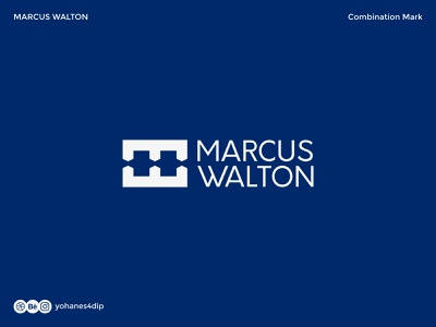 MARCUS WALTON LOGO logomarks combination mark trademark logomark brand design logotype brand identity logodesign simple logo logo design branding minimal design logo