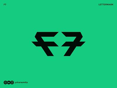 F7 Logo logo designs logotypedesign wordmark logo logofolio bold logo lettermark logo logotype wordmark lettermark brand identity logodesign simple logo logo design flat minimal design logo