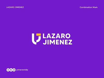 Lazaro Jimenez Logo minimalist logo minimalist logo inspire purple combination mark logofolio trademark wordmark lettermark logotype brand identity logodesign simple logo logo design flat branding minimal design logo