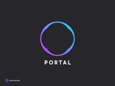 Portal Logo simple design modern design simple logo modern logo minimalist logo logo design branding minimal flat design logo