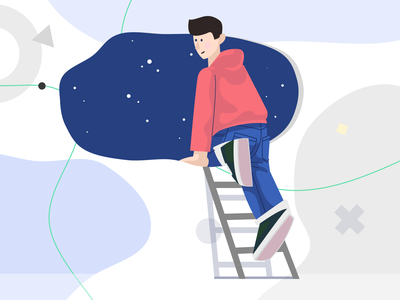 Self Space Illustration otherspace logout colorful illustration svg moonmen exit