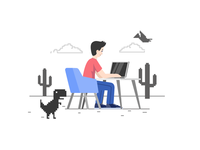 Self Space Illustration no connection illustration 2d vector svg moonmen