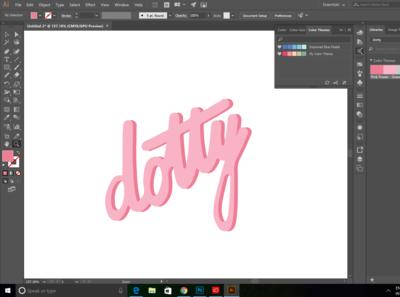 Dotty /handwritten logo/