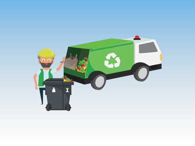 Illustration | Kerteminde forsyning sustainable graphic design green solutions environmentally friendly colorful recycling infographics branding illustration design